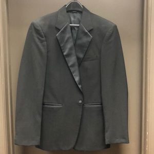 Other - Tuxedo Jacket Wool One Button Satin Lapel Generic